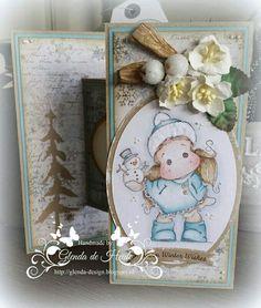 Kerstkaart / Christmas card Magnolia / Noor Design /  Marianne