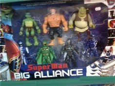 Superman Big Alliance!  Superman isn't actually in the Superman Big Alliance, but Shrek is.
