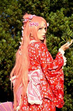 Sakura Haruno - Sakura Hime, original cosplay by on DeviantArt Cosplay Diy, Best Cosplay, Awesome Cosplay, Cosplay Ideas, Sakura Haruno Cosplay, Sakura Uchiha, Anime Cosplay Girls, Naruto Shippudden, Hatsune Miku