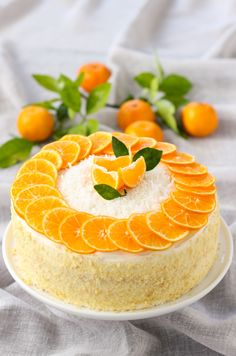 This beautiful made-from-scratch Mandarin Orange Cake is easy to make, especially with the help of little hands. It's a fresh twist on an old classic – Mandarin Orange Cake made without Cool Whip or cake mix. Just fresh, flavorful, beautiful cake. Mandarin Cake, Nake Cake, Cake Recipes, Dessert Recipes, Cute Cakes, Cupcake Cakes, Cake Decorating, Sweet Tooth, Treats