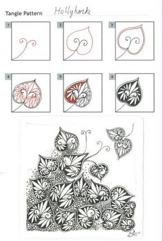 How to draw Hollyhock