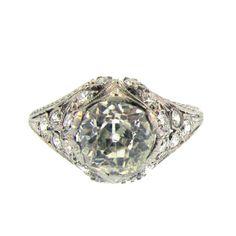 1stdibs.com | Art Deco Diamond Engagement Ring