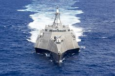 Littoral combat ship USS Coronado (LCS 4) patrols the Pacific Ocean during flight operations in the 7th Fleet area of operation on Oct. 6, 2016. US Navy photo.