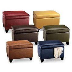 Merveilleux Cordoba Leather Storage Ottoman Ottoman Bench, Leather Ottoman Coffee  Table, Furniture, Bookcase,