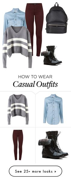 """""""Casual"""" by shabirabirabwa on Polyvore featuring Yves Saint Laurent and J Brand"""