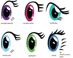 my_little_pony_eye_styles_by_kawaii_maxi_chan-d6qcpza.png 5112×4088 pixels