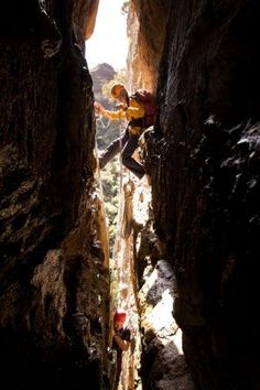 this is Boars Slot where I went abseiling / rappelling in the Blue Mountains ... in New South Wales, Australia