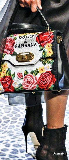 prada handbags for women black Prada Handbags, Fashion Handbags, Fashion Bags, Mode Baroque, Dolce And Gabbana 2017, Gucci, Floral Fashion, Cute Bags, Italian Fashion