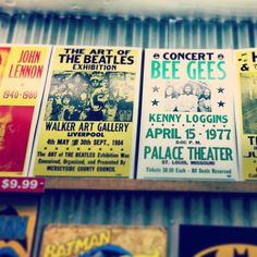 Vintage inspired concert playbill posters