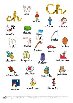 7 lectura -ch.padres Spanish Class, Teaching Spanish, Kids Education, Special Education, Teachers Aide, Kids English, Preschool Worksheets, Home Schooling, Spanish Language