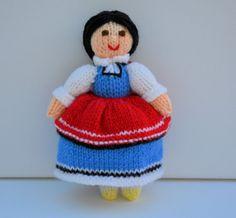 Bulgarian Doll Folk Doll Folk Costume Folk от EdithGraceDesigns