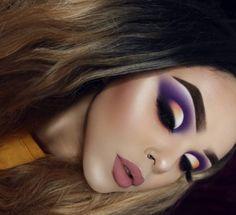 Gorgeous Makeup: Tips and Tricks With Eye Makeup and Eyeshadow – Makeup Design Ideas Cute Makeup, Gorgeous Makeup, Glam Makeup, Pretty Makeup, Makeup Inspo, Eyeshadow Makeup, Skin Makeup, Indie Makeup, Purple Makeup