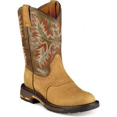 10007836 Ariat Youth Workhog Western Boots - Bark www.bootbay.com