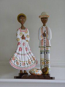 """Nativity set in regional dress  17"""" tall  $125"""