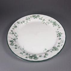 Vintage Corelle Ware White Glass Dinner PlatesBandhani PatternRed Bandana Boarder Edge 10 PlateSet of Four