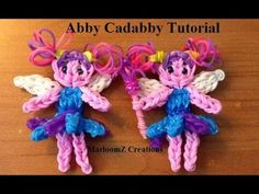 nice Rainbow Loom Abby Cadabby doll or Charm
