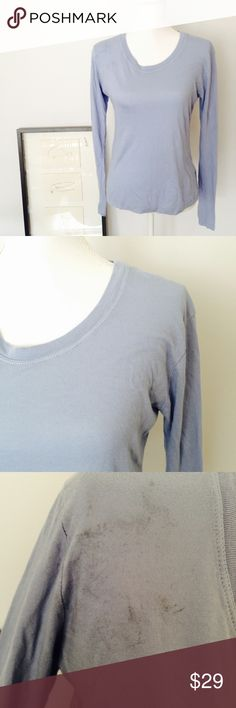 Brandy Melville Long Sleeve NWT thin and soft long sleeve. Has discoloration on the right shoulder, and also on the back below the neckline.                        Size: XS-M                                            Recommendation: Brandy eves and some flip flops. Perfect for the beach Brandy Melville Tops Tees - Long Sleeve