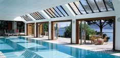 Pool Houses, Enclosures and Cabanas | NanaWall so I can do exercises for my back year round