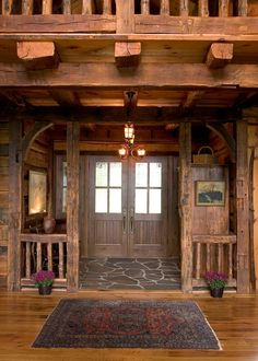 Irregular Flagstone in the entryway of a home- <3 !