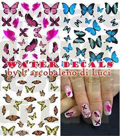 butterfly nail decals stickers   Dettagli su WATER DECALS FARFALLE BUTTERFLIES STICKERS UNGHIE NAIL ART ...