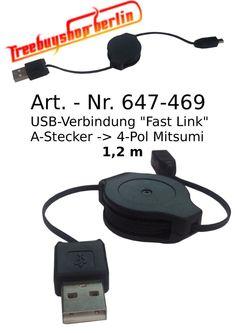 USB - Verbindung Fast Link - A Stecker zu 4 Pol Mitsumi