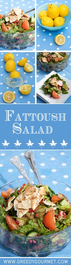 Fattoush Salad - the perfect Lebanese dish in the summer.