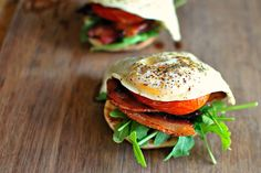 Breakfast BLT | Tasty Kitchen Oven Roasted Tomatoes, Pork Bacon, Cant Stop Eating, Tasty Kitchen, How To Cook Eggs, Pork Recipes, Beverages, Healthy Eating