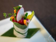 Vegetables / Rice paper / Spinach / Coriander at Fusion Restaurant / Westin Hotel in Warsaw