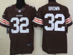 Nike Cleveland Browns #32 Jim Brown Brown Elite Jersey