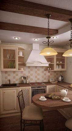 Дизайн интерьера маленькой кухни в хрущевке: фото с идеями и примерами
