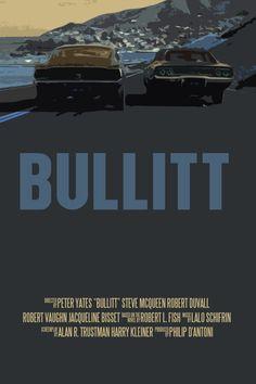 Steve McQueen Movie Poster Set Bullitt / The by FunnyFaceArt, £11.45