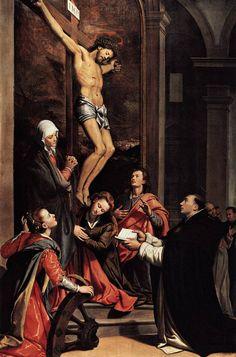 Vision of St Thomas Aquinas 1593 Painting by Santi Di Tito Reproduction Catholic Art, Catholic Saints, Roman Catholic, Catholic Quotes, Catholic Books, Catholic Priest, Religious Images, Religious Art, Saints
