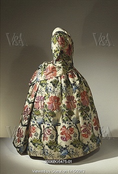 c 1730 England Mantua dress -- which just goes to show the bustle was retro...
