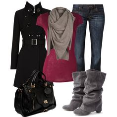Cooler Weather by dori-tyson on Polyvore featuring CROSS Jeanswear, Friis & Company, AllSaints and Karen Millen