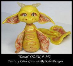 Fantasy Little Sea Dragon Dollhouse Art Doll Polymer Clay OOAK Iadr Deem Mini | eBay