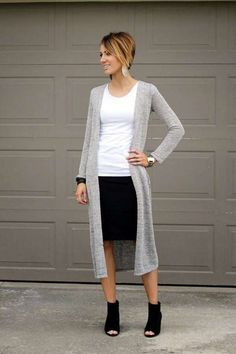 Cardigan Outfits For Work 136