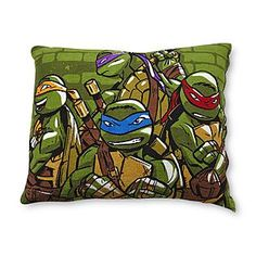 Ninja Turtle Decorative Pillow : Ninja turtle bedroom ideas on Pinterest Teenage Mutant Ninja Turtles, TMNT and Ninja Turtles
