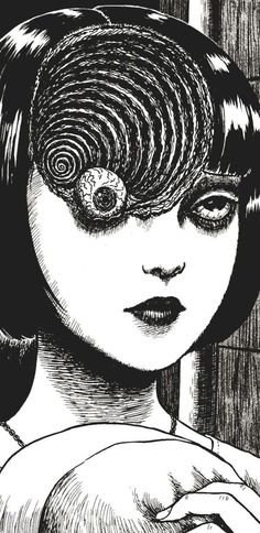 "From ""Uzumaki""-Junji Ito Junji Ito, Manga Art, Manga Anime, Anime Art, Arte Horror, Horror Art, Pixel Art Background, Japanese Horror, Arte Obscura"