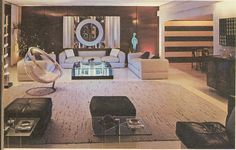 70s space age living room.