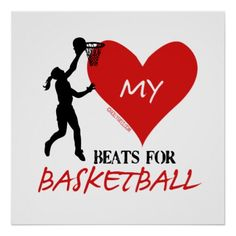 Golly Girls - My Heart Beats for Basketball Poster