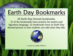 FREE Earth Day Poetry Bookmarks!