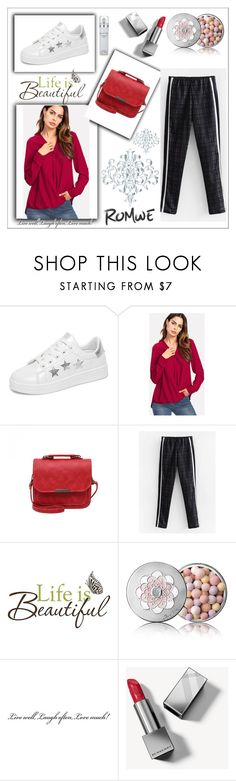 """""""Romwe 2/VII"""" by hedija011 ❤ liked on Polyvore featuring Brewster Home Fashions, Guerlain, Burberry and Kenneth Cole"""