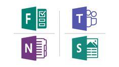 Teams, Sway, Forms en OneNote instructiekaarten voor docenten. Download als PDF. Tech Companies, Company Logo, Learning, Logos, Tips, Studying, Logo, Teaching, Onderwijs