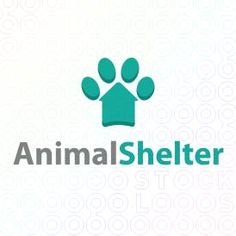 Logo Design of a creative paw design made froma  house to represent and adoption center or pet care center For Sale On StockLogos | Animal Shelter logo