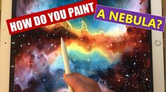 HOW TO PAINT A NEBULA - Apple Pencil drawing and painting tutorial on iP...