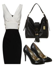 Sleek professional outfit.