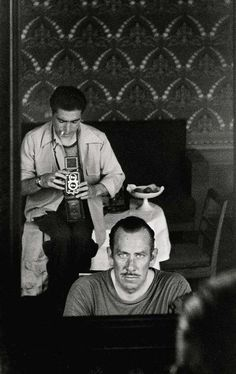 Robert Capa photographing John Steinbeck, Moscow, sept. 1947
