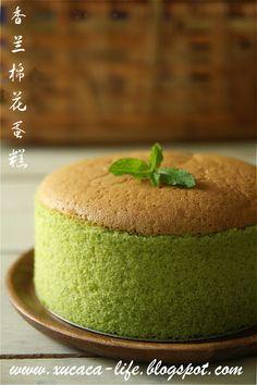 Butter . Flour & Me 爱的心灵之约: 香兰棉花蛋糕 (Pandan Cotton Cake)