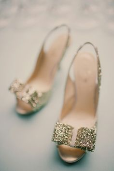 glitter + bow = darling kate spade perfection