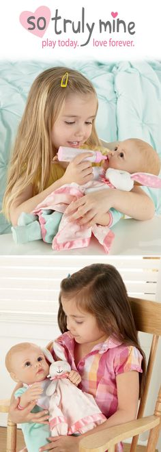 Imagine the hours of playtime fun shared between your little girl and her So Truly Mine Baby Doll, specially created for ages 3 and up! #SoTrulyMine